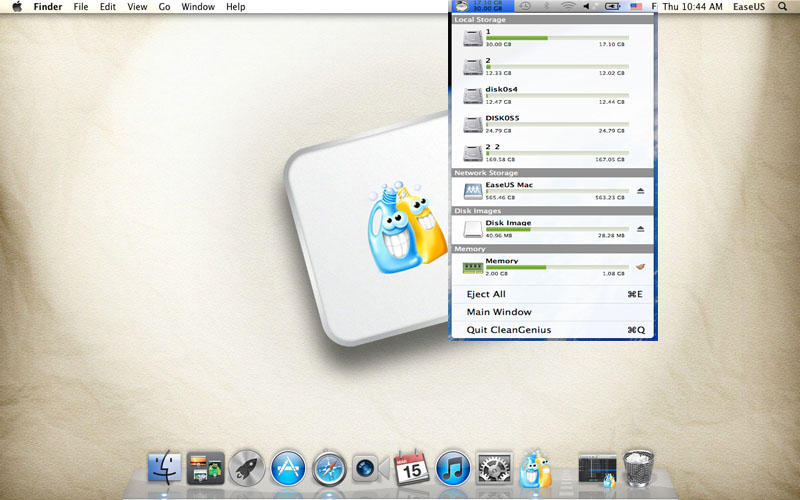 Mac cleaner software - EaseUS CleanGenius